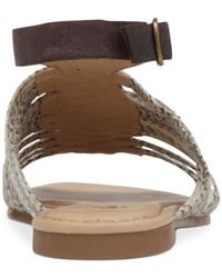 Lucky Brand Black Women's Cabette Strappy Flat Sandals