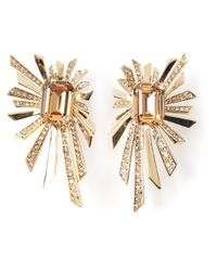 Roberto Cavalli | Metallic Sun Rays Earrings | Lyst
