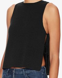 Exclusive For Intermix | Black Skye Side Tie Knit Tank | Lyst