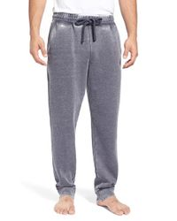 Daniel Buchler - Blue Washed Cotton Blend Lounge Pants for Men - Lyst