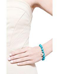 Sydney Evan | Blue Pave Diamond Fortune Cookie Charm Beaded Bracelet | Lyst