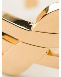 Saint Laurent | Metallic 'monogram' Bracelet | Lyst
