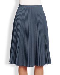 Akris Punto | Blue Pleated Midi Skirt | Lyst