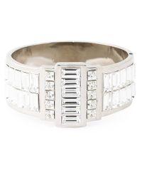 Alexander McQueen Metallic Swarovski Crystal Cuff