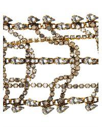Erickson Beamon | Metallic Bette Gold-Plated Crystal Bracelet | Lyst