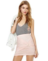 Nasty Gal - Multicolor Ruched Knot Skirt - Peach - Lyst
