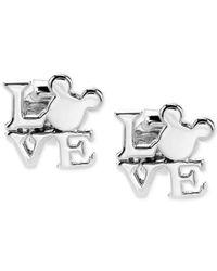 Disney | Metallic Mickey Mouse Love Earrings In Sterling Silver | Lyst