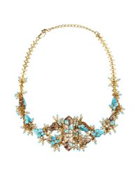 Dior - Blue Necklace - Lyst