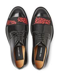 Raf Simons | Black Strap-Front Polished-Leather Derby Shoes for Men | Lyst