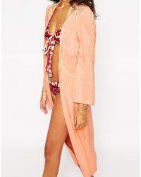Somedays Lovin - Pink Lovin Little Star Lace Beach Kimono - Lyst