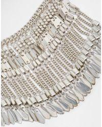 Pieces | Metallic Jean Coin Boho Necklace | Lyst