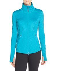 Zella | Blue Galaxy Paneled Jacket | Lyst