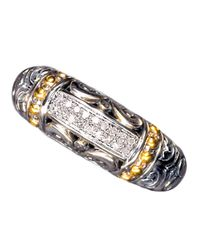 Effy | Metallic Balissima Sterling Silver And 18 Kt Yellow Gold Diamond Ring | Lyst