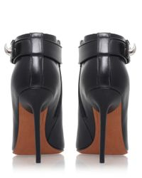 Givenchy - Black Woven Peep Toe Boot - Lyst