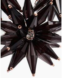 Ted Baker Black Floria Flower Starburst Necklace