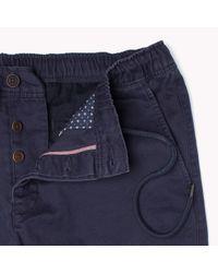Tommy Hilfiger | Blue Cotton Regular Fit Trousers for Men | Lyst