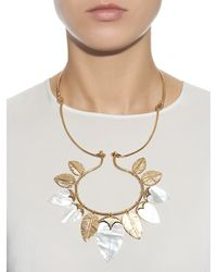 Aurelie Bidermann | Metallic Talitha Mother-of-pearl & Gold-plated Necklace | Lyst