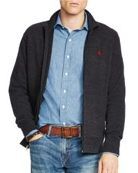 Polo Ralph Lauren | Black French-rib Full-zip Jacket for Men | Lyst