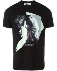 Givenchy Black Abstract Print T-shirt for men