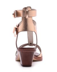 Matt Bernson Metallic Km City Sandals