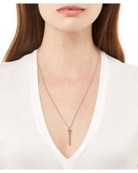 True Rocks - Pink Small Rose Gold Plated Screw Necklace - Lyst