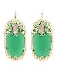 Kendra Scott | Maui Deva Oblong Earrings Green | Lyst