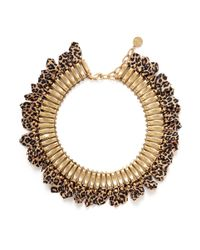 Ela Stone | Metallic Baker Leopard Print Chain Necklace | Lyst