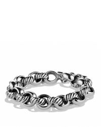 David Yurman | Metallic Cable Classics Large Link Bracelet | Lyst