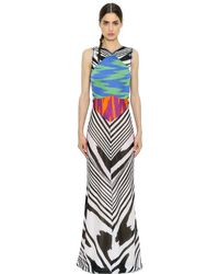 Missoni - Multicolor Patchwork Stretch Viscose Knit Dress - Lyst