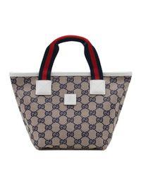 Gucci - Gray Webtrim Original Gg Bag - Lyst