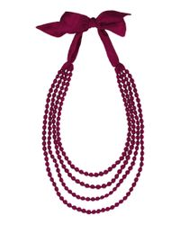 Toast | Purple Silk Wrapped Bead Necklace | Lyst