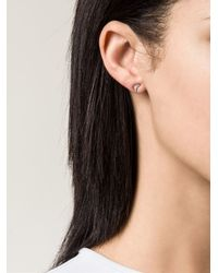 Ileana Makri | Black Diamond Crescent Earrings | Lyst
