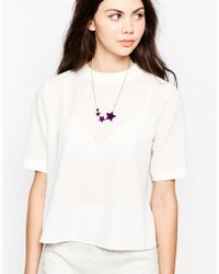 Tatty Devine - Purple Shooting Star Necklace - Lyst