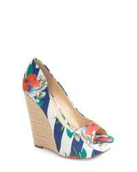 Jessica Simpson - Multicolor 'bethani' Wedge Platform Sandal - Lyst