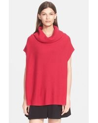 Vince - Red Short Sleeve Turtleneck Sweater - Lyst