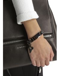 Givenchy - Metallic Gunmetal Shark Tooth Bracelet - Lyst