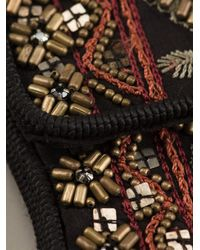 Etro | Black Embellished Pouch Necklace | Lyst