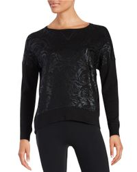 Betsey Johnson | Black Floral Embossed Sweatshirt | Lyst