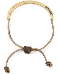 DIESEL - Brown 'aswet' Bracelet - Lyst