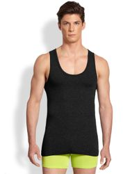 Versace - Black Iconic Logo Tank Top for Men - Lyst
