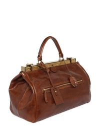 The Bridge Brown Hand-Painted Leather Doctor Bag for men