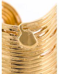 Gas Bijoux - Metallic Wide Wave Ring - Lyst