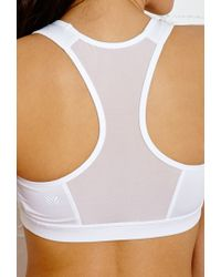 Forever 21 - White High Impact - Mesh Trimmed Sports Bra - Lyst