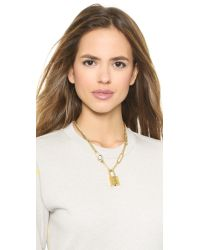 Marc By Marc Jacobs - Metallic Locked Up Necklace - Gunmetal/Oro - Lyst