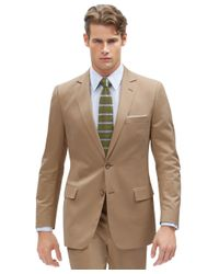 Brooks Brothers | Brown Italian Cotton Fitzgerald Suit for Men | Lyst