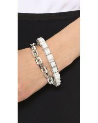 Eddie Borgo - Metallic Small Link Bracelet - Lyst