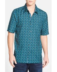 Nat Nast | Blue 'ritts' Regular Fit Short Sleeve Silk Sport Shirt for Men | Lyst