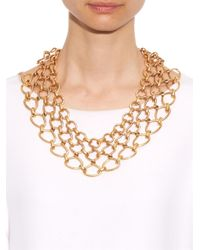 Oscar de la Renta   Metallic Twisted-Rope Necklace   Lyst