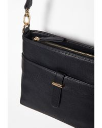 Forever 21 - Black Classic Faux Leather Crossbody - Lyst