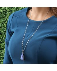 Katherine Jetter | Blue Boulder Opal Pendant With Moonstone Chain | Lyst